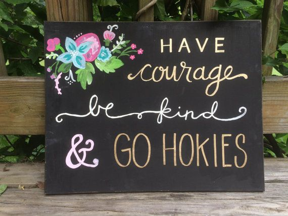 Collegiate Canvas Virginia Tech by simplylettered on Etsy