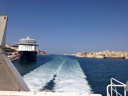 Grazia D'Arrigo e Fabrizio Crimi in viaggio da Malta a Roma per il Meeting Nazionale Wision55, giugno 2014