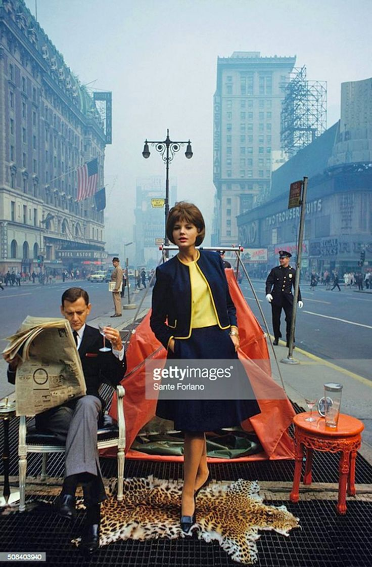 And Now For Your Viewing Pleasure... (Sante Forlano - Tony Randall In Times Square, NYC, 1963.)