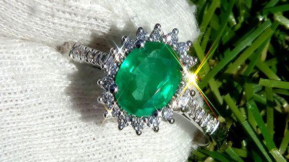 Kolumbianischer Smaragd Ring Smaragd Ring Vintage von Eranbichman