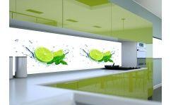 Panel szklany do kuchni PLASTERKI LIMONKI