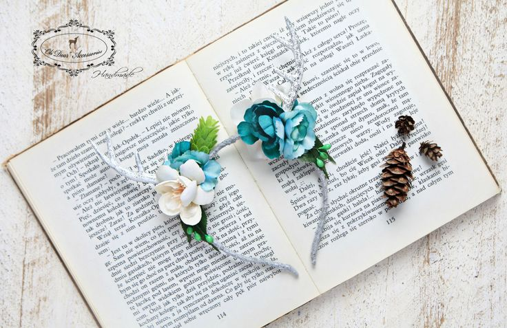 antler headband,woodland,nature inspired,birthday party,fairy party,photo session,photo prop,fantasy,winter wonderland,bambi,antlers by OhDearAccessories on Etsy