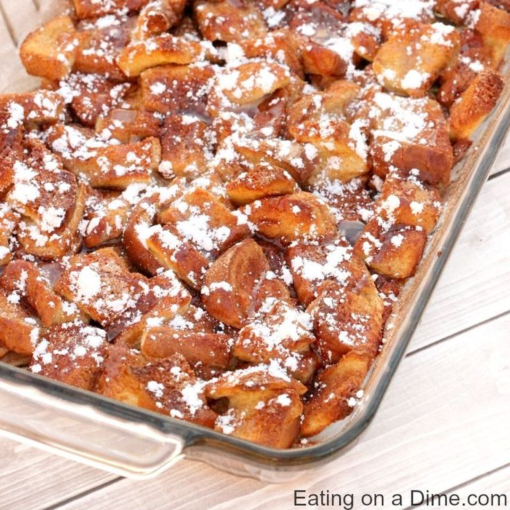 This Overnight French Toast Casserole Recipe is easy to make and perfect when you have old or stale bread. It is our go to recipe when we need an easy breakfast idea