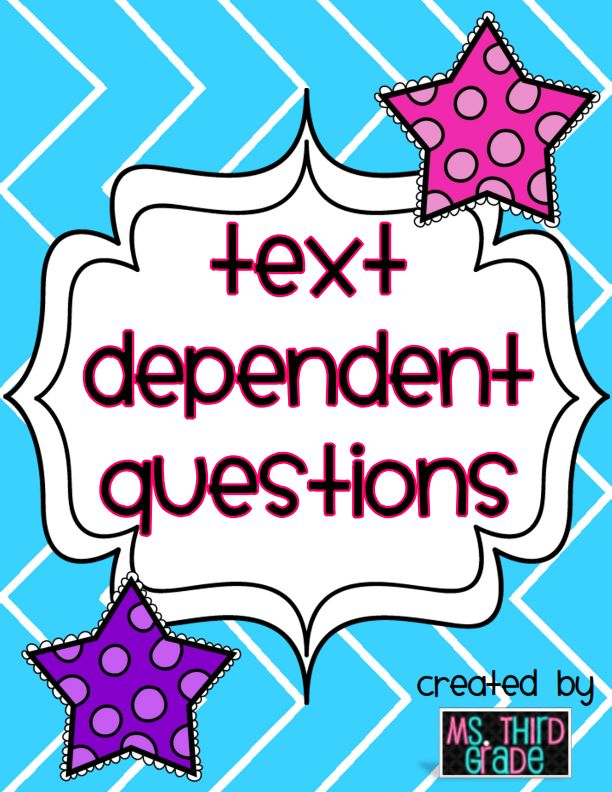 Ms. Third Grade: Common Core: Text Dependent Question Prompts