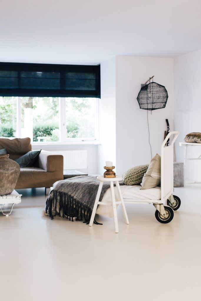 All white interior in the Netherlands. Check out Roomed for the home tour! Photography by Iris Duvekot - Roomed