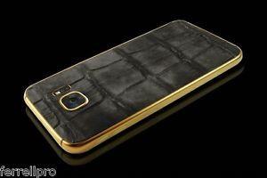 LUXURY!! 24K Gold Custom Samsung Galaxy S7 Edge 32GB Limited Ed Croco Leather