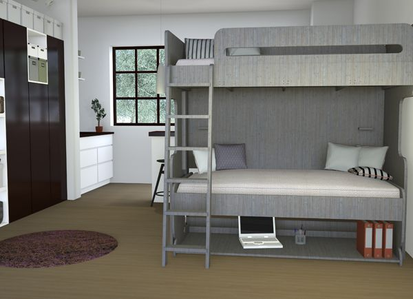 28 best bunk beds images on pinterest triple bunk beds for Bedroom designs double deck