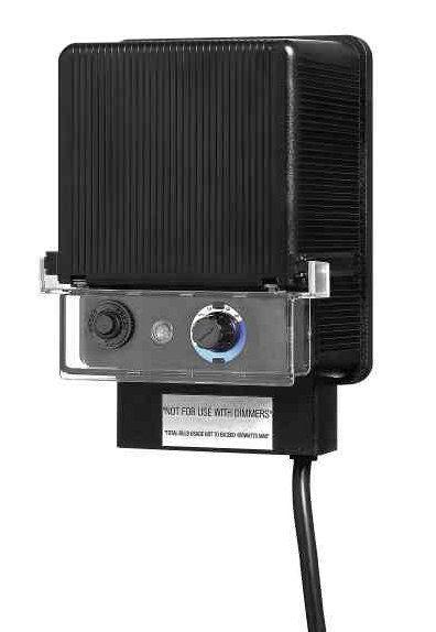 Hinkley Lighting 0150BK 12 V Landscape Lighting Transformer with Timer Black Outdoor Lighting Landscape Lighting Accessories