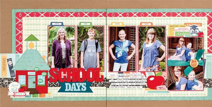School Days by Jana Eubank for Scrapbook & Cards Today Magazine - Fall 2016