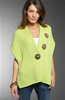 http://www.loopsknitting.com/3-way-wrap/                                         Three button wrap knitting pattern free