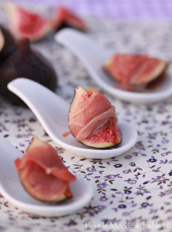 figs & serrano or parma ham - an all-time favourite