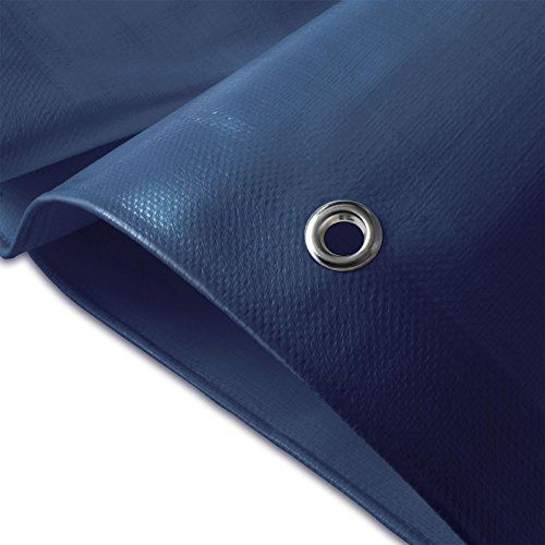 Bâche de protection casa pura® en polyéthylène | haute densité 260g/m² | 100% imperméable à l'eau et aux UV | bleu: DURABLE : structure…