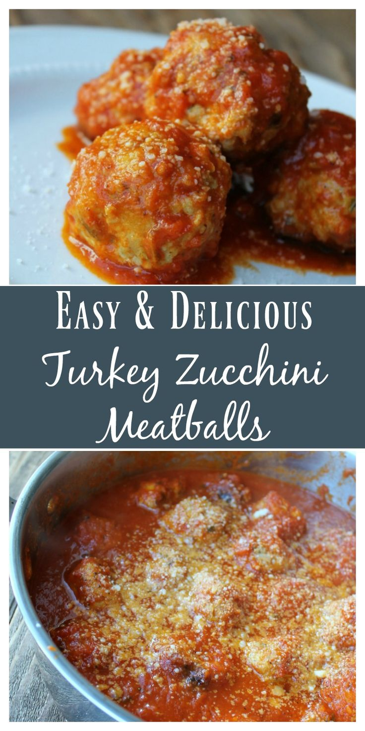 Turkey Zucchini Meatballs. Delicious make-ahead and freeze dinner recipe