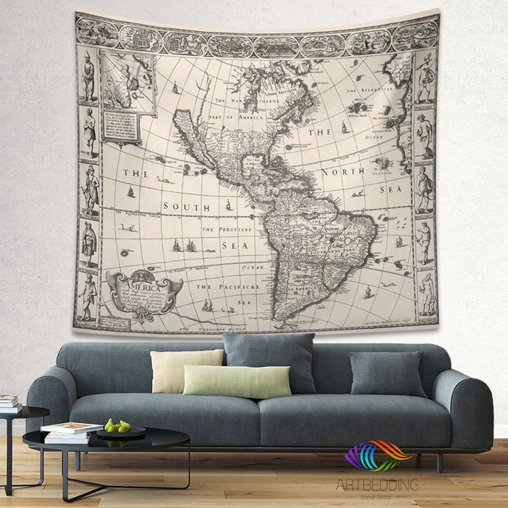 Download Map Indonesia%0A Vintage America map wall tapestry  America vintage world map wall hanging   old map wall