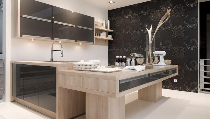 cuisine design noire en bois nolte pinterest cuisine. Black Bedroom Furniture Sets. Home Design Ideas