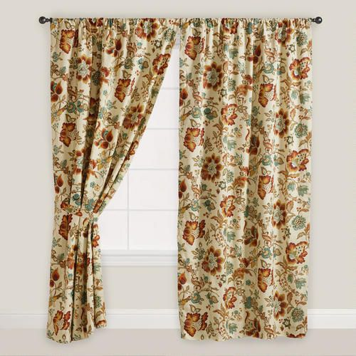 One of my favorite discoveries at WorldMarket.com: Malli Sleeve Top Curtain, bought extra long panel, took off the bottom and made pillows.