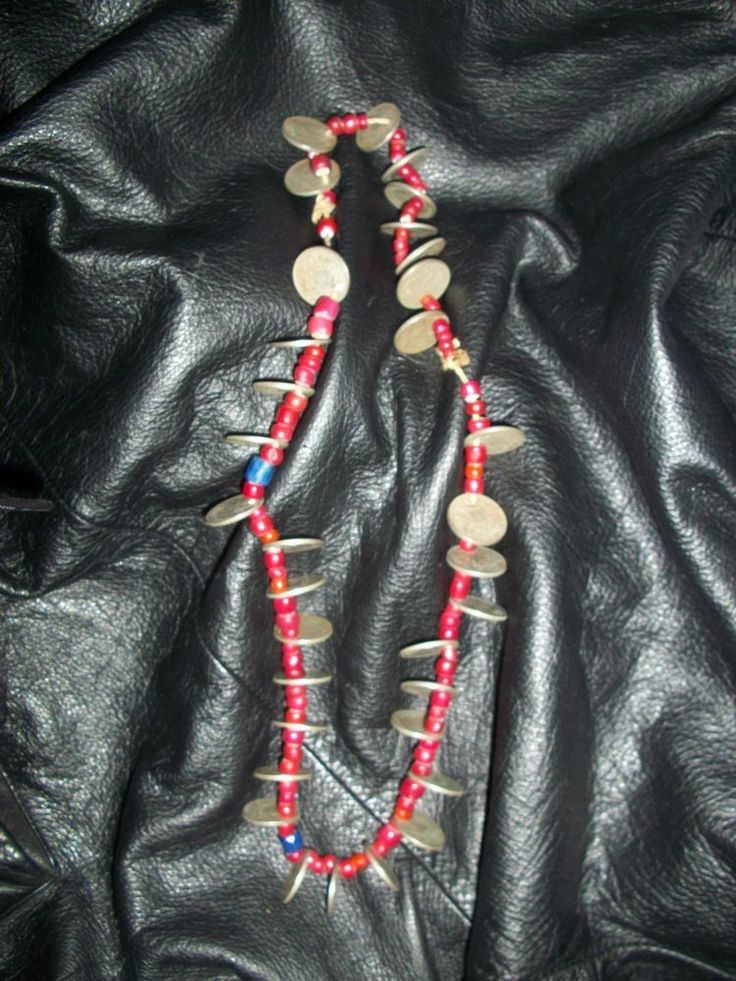 Antique Indigenous Chachal Guatemalan Reals & glass bead Necklace,RARE! #StrandString   SOLD!!