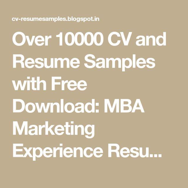 Více než 25 jedinečných nápadů na téma Marketing resume na - marketing resume samples