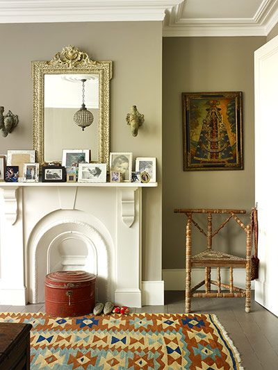 After finding a wreck of a Victorian terraced house in north London, while lusting after its more polished neighbour, Rauter drafted in architect Martyn Clarke for help. The mirror on Rauter's bedroom mantelpiece was left in the French chateau by its previous owners. The triangular turner's chairs were bought at a French antique market – Vide Greniers is a good guide to these.