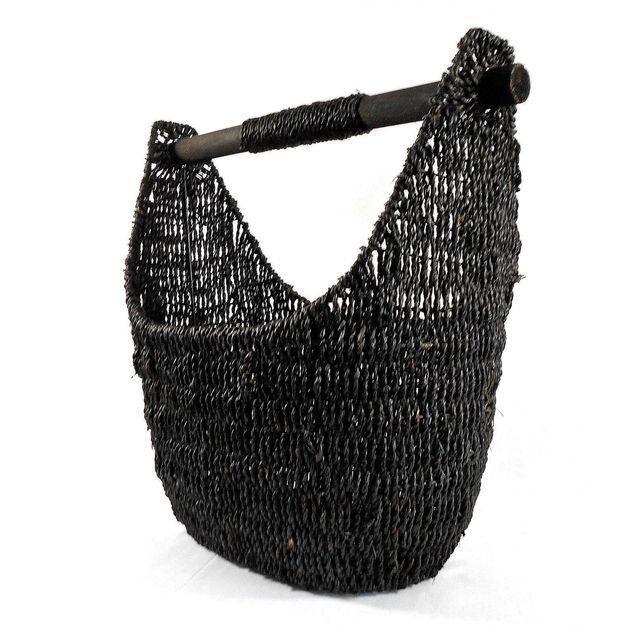 Balinese Black Seagrass Large Basket -