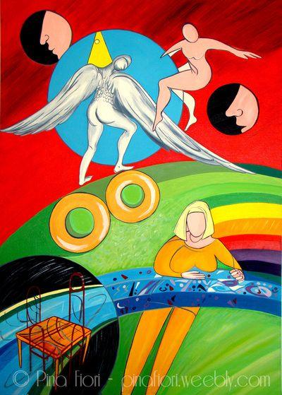 Two Donuts - © Pina Fiori #art #painting #artlovers #modernart #artsblog #artgallery #arte