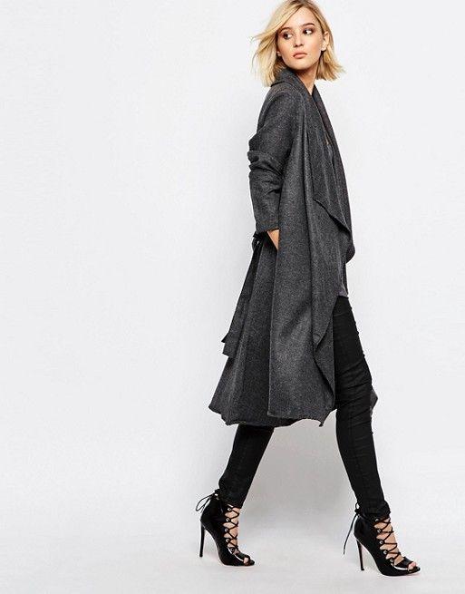 Religion | Religion - Freedom - Cappotto di lana grigio antracite