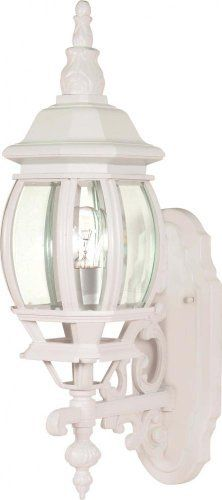 Nuvo 60/885 Wall Lantern with Clear Beveled Panels, White, Small by Nuvo. $43.99. White small wall lantern with clear beveled panels. (1) 100-Watt A19 medium base bulb not included.