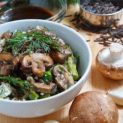 warm mushroom, roasted asparagus and Wild Rice Salad with Feta--Try ...