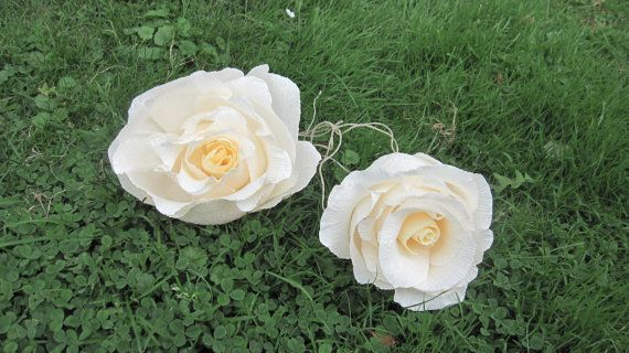 GIGANT Crepe Paper Flowers paper flowers roses by moniaflowers
