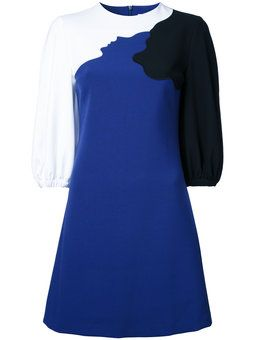 платье дизайна колор-блок