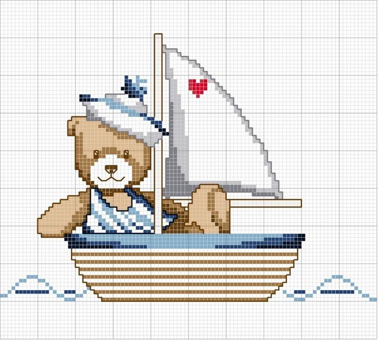 osito en barco