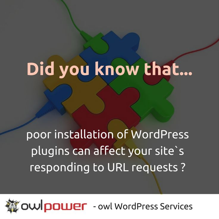 Did you know that poor installation of #WordPress plugins can affect your site`s responding time to simple URL requests ?