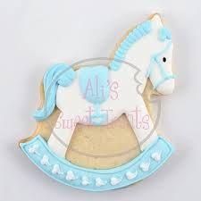 Image result for rocking horse baby shower cookies