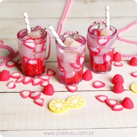 colar limonada de morango