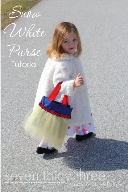 Snow White Purse Tutorial @Kimberly Carpenter  -- I thought of Heidi when I saw this ! :)  This blog has some other really cute tutorials too!!