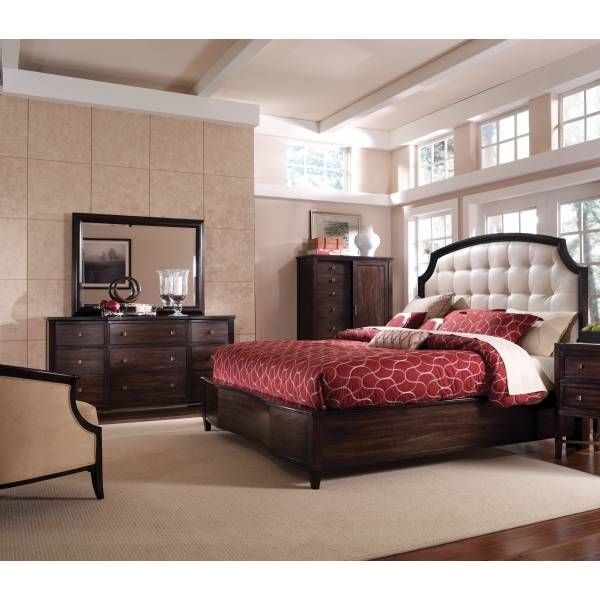 Intrigue Leather 4 Pc Panel Bedroom Group A R T Furniture Star Houston