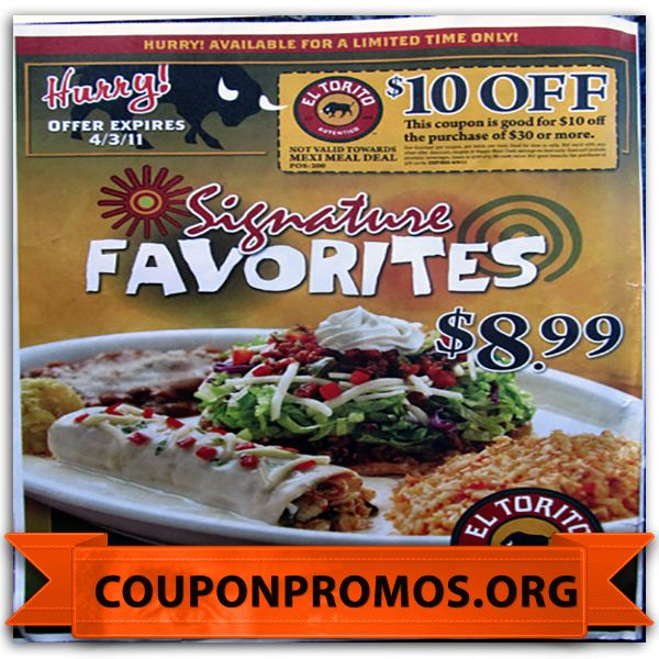 graphic regarding El Torito Coupons Printable named Torito coupon codes / Columbus within united states of america