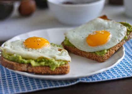 Avocado Toast with Egg via The Corner Kitchen | Click through for a week's worth of healthy breakfasts