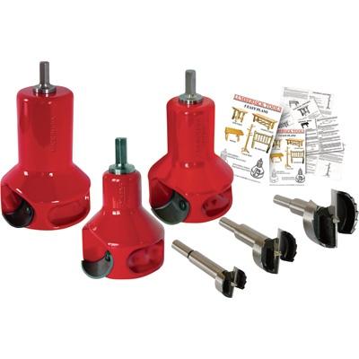 Lumberjack Tools Home Series Tenon Cutter Master Kit — 3-Pc., 1in., 1 1/2in. & 2in., Model# HSK3