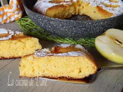 Torta sofficissima yogurt e mele cotta in padella, ricetta per torta golosa e morbida senza forno, ottima per la merenda o la colazione. torta senza burro