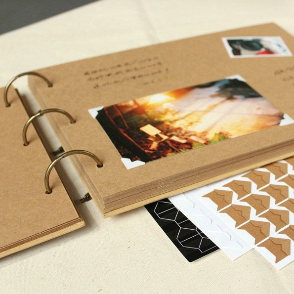 A4 Ring Binder Photo Album  56 pages// Kraft by PapergeekMY, $39.00