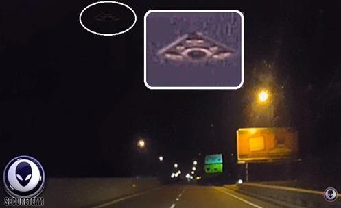 Motorista Captura com sua Dashcam um INCONTESTÁVEL objeto Voador Extraterrestre?