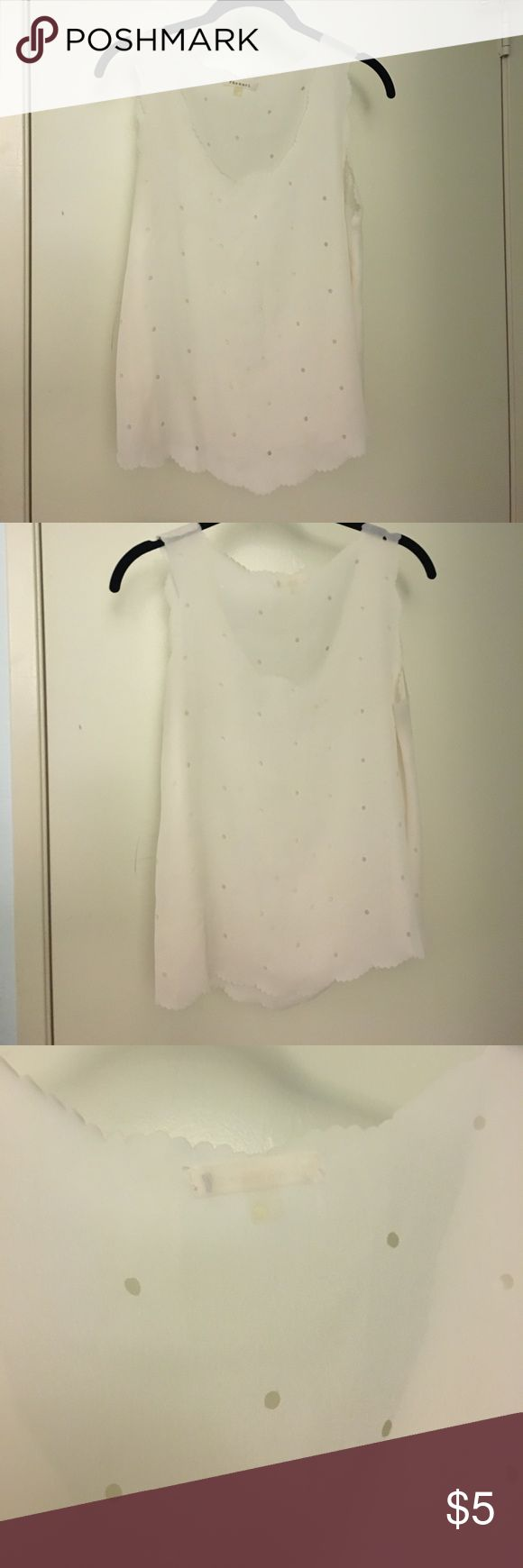 Sheer white tank I'm moving and can't take a lot with me. Just need to move these quickly. Whatever is left is going to Goodwill. All of this needs to go! Bundle and make me an offer to save $$! Seriously just needs to go! Urban Outfitters Tops Tank Tops