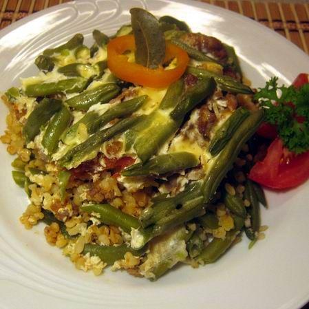 Rakott zöldbab bulgurral vagy rizzsel -- Mindmegette.hu