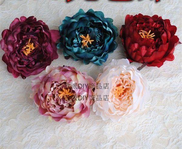 King Continental пакет сердце высокого качества моделирования шелка пион цветок DIY цветок цветочные головной убор, украшенный мешков одежды - глобальная станция Taobao
