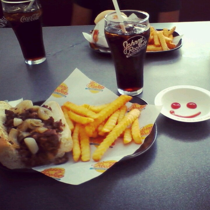 Johnny Rockets and a good friend.