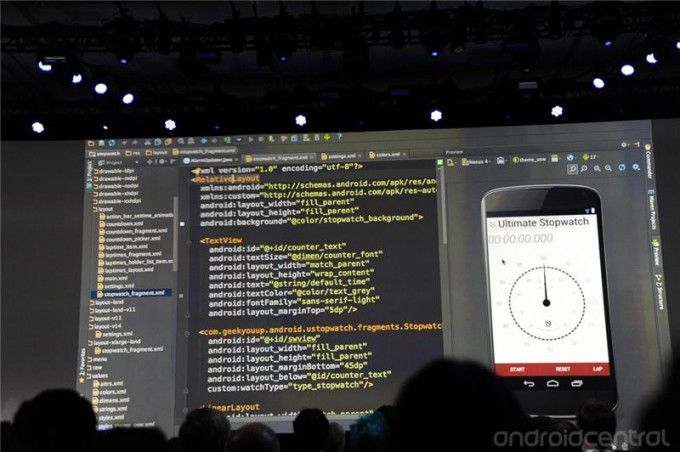 Android Studio unveiled at Google I/O keynote. It Nexus 4 Emulator is immensely great!
