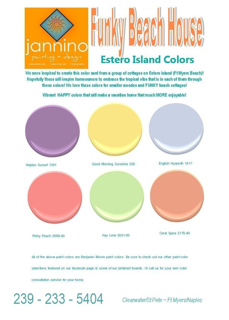 Inspired By Cottages Along The North Side Of Estero Island   Ft Myers Beach    We Have Developed Our Estero Island Colors Card Featuring Paint Colors    Enjoy ...