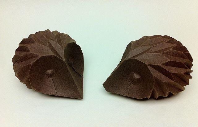 Paper hedgehogs