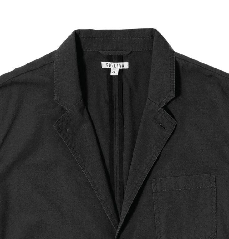 Unstructured Canvas Blazer - Black